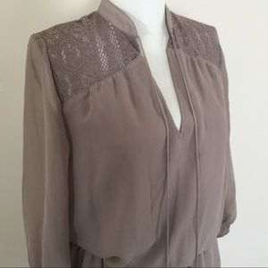 Mossimo Lace Tunic Top Mauve Sz Small